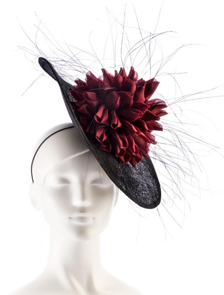 Dahlia Headpiece – Dark Red